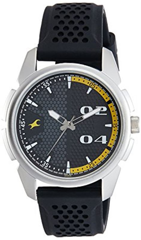 Fastrack Loopholes Analog Black Dial Men's Watch-3124SP02