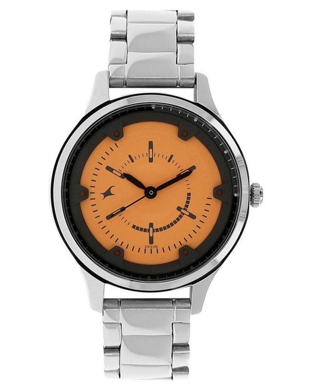 Fastrack Analog Orange Dial Women's Watch-6138SM02