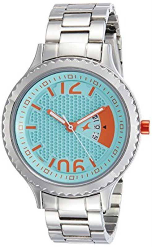 Fastrack Loopholes Analog Silver Dial Women's Watch-6168SM01