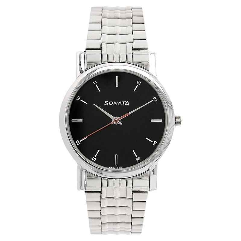 Sonata Black Dial Analog Watch for Men - 7987SM04