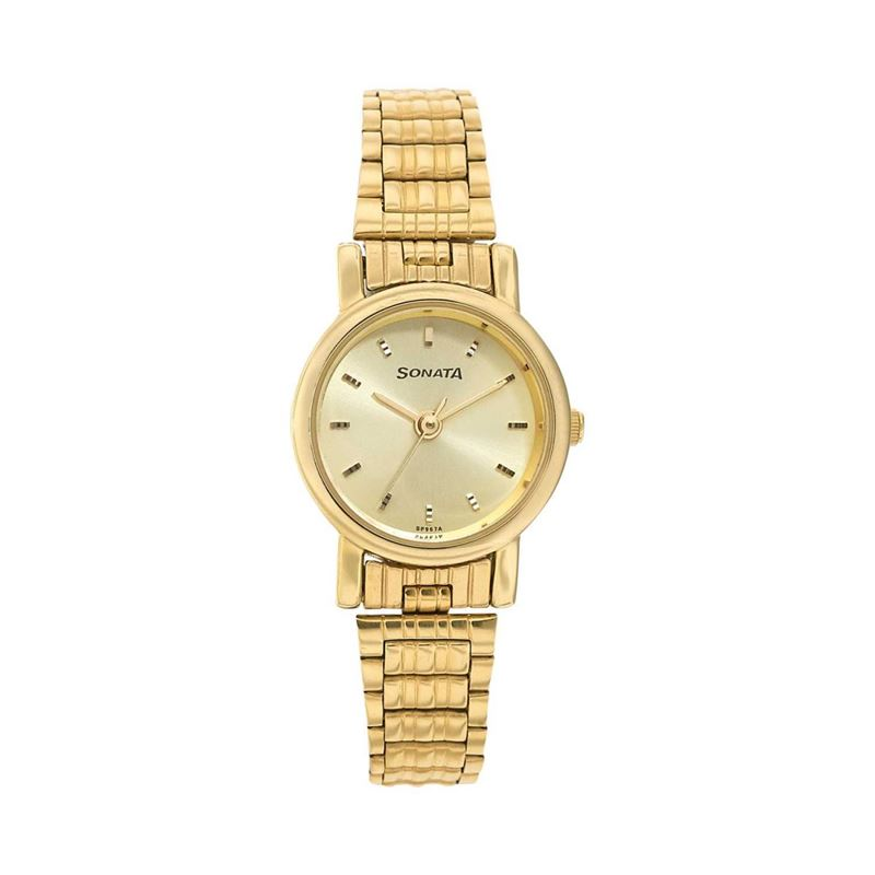 SONATA Analog Golden Dial women's Watch - 8976YM09