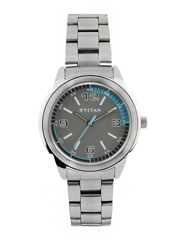 Titan Grey Dial Analog Watch - 1585SM03
