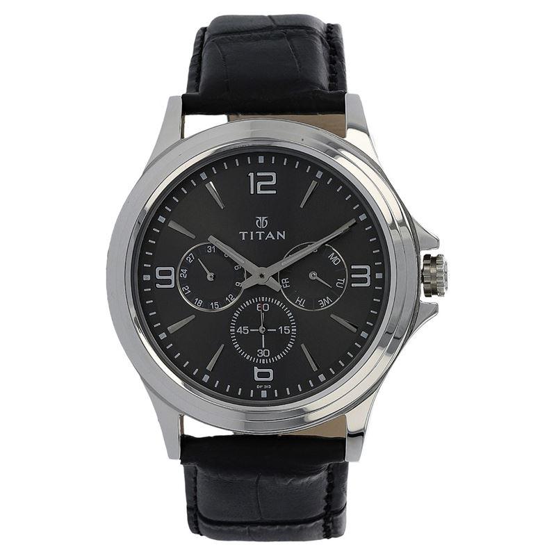 Titan Black Dial Analog Watch for Men - 1698SL02