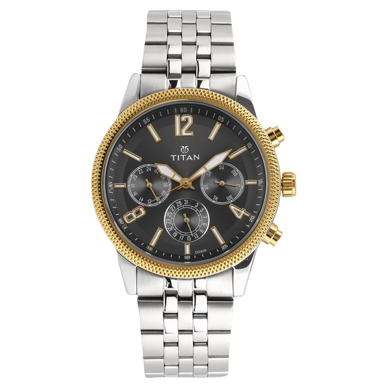Titan Neo Black Dial Multifunction Watch for Men - 1734BM01