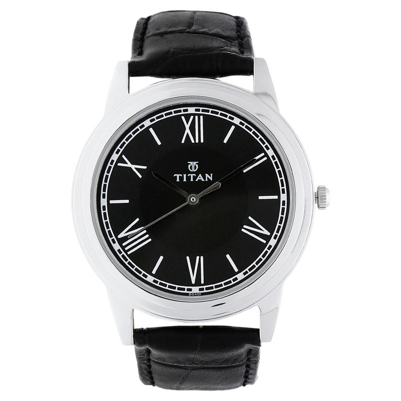 Titan Karishma Black Dial Analog Watch for Men - 1735SL02