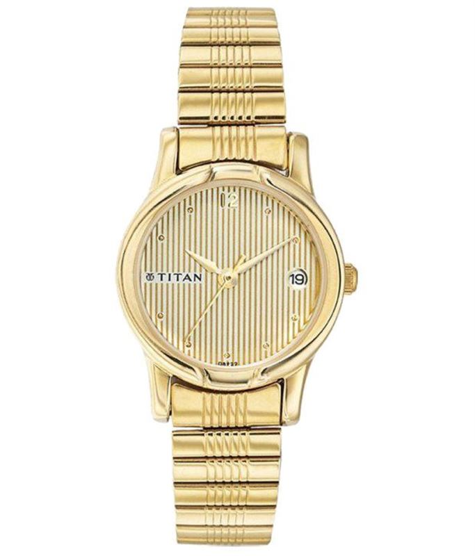 Titan Gold Analog Watch - 2490YM04
