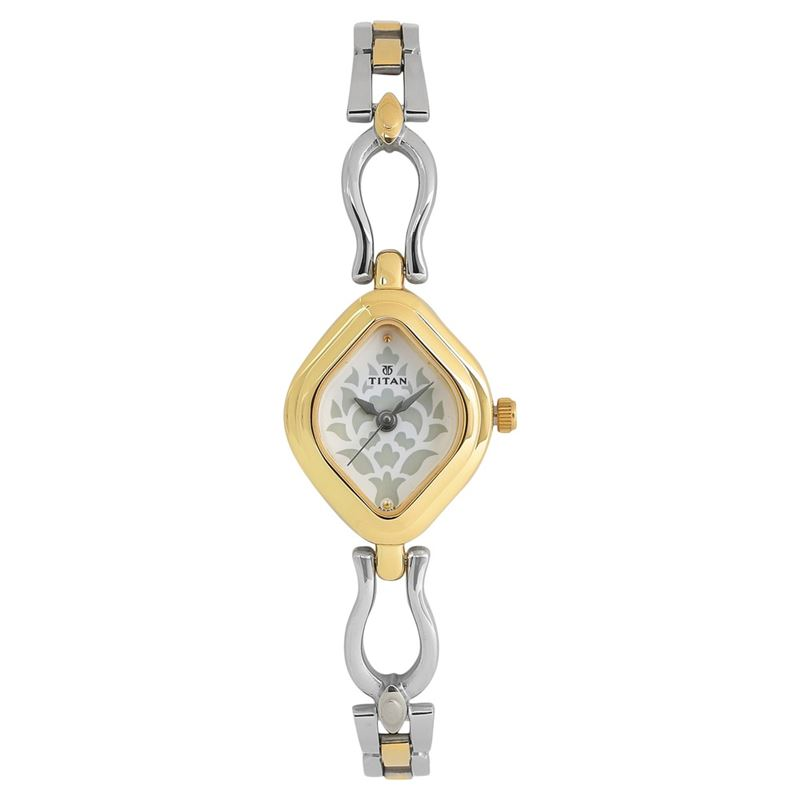 Titan White Dial Analog Watch for Women - 2536BM02