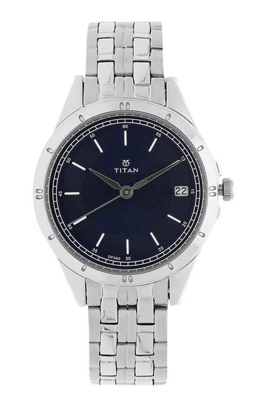 Blue Dial Stainless Steel Strap Watch - 2556SM02