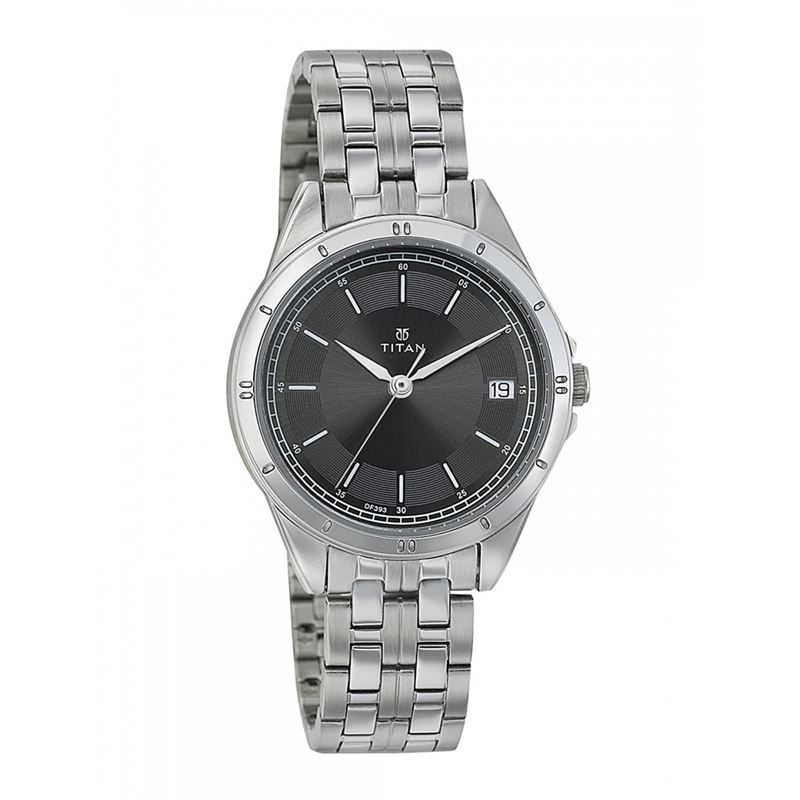 Black Dial Stainless Steel Strap Watch - 2556SM03