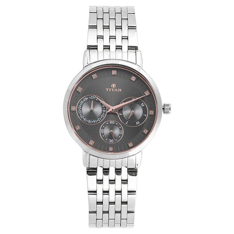 Titan Neo Black Dial Multifunction Watch For Women - 2569SM04