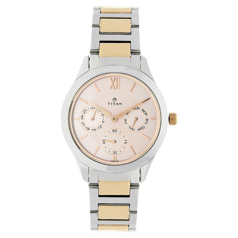 Titan Stainless Steel Strap Watch for Women - 2570KM01