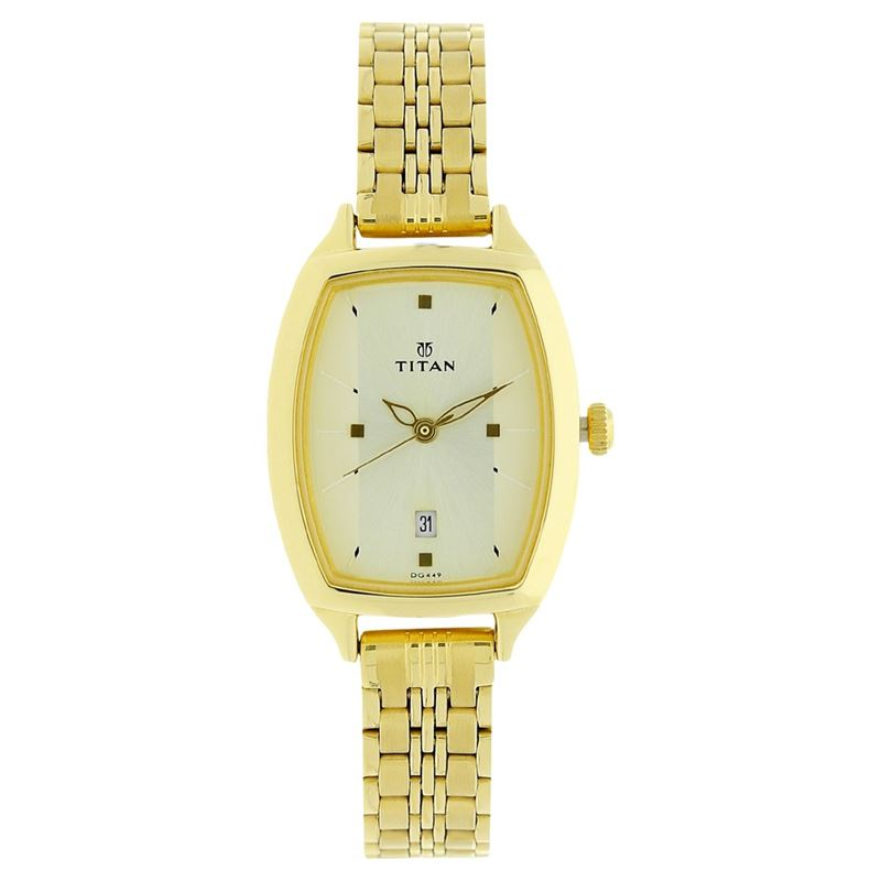 Titan Karishma Champagne Dial Analog Watch for Women - 2571YM01