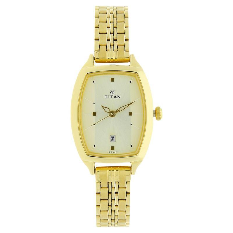Titan Karishma Champagne Dial Analog Watch for Women - 2571YM01