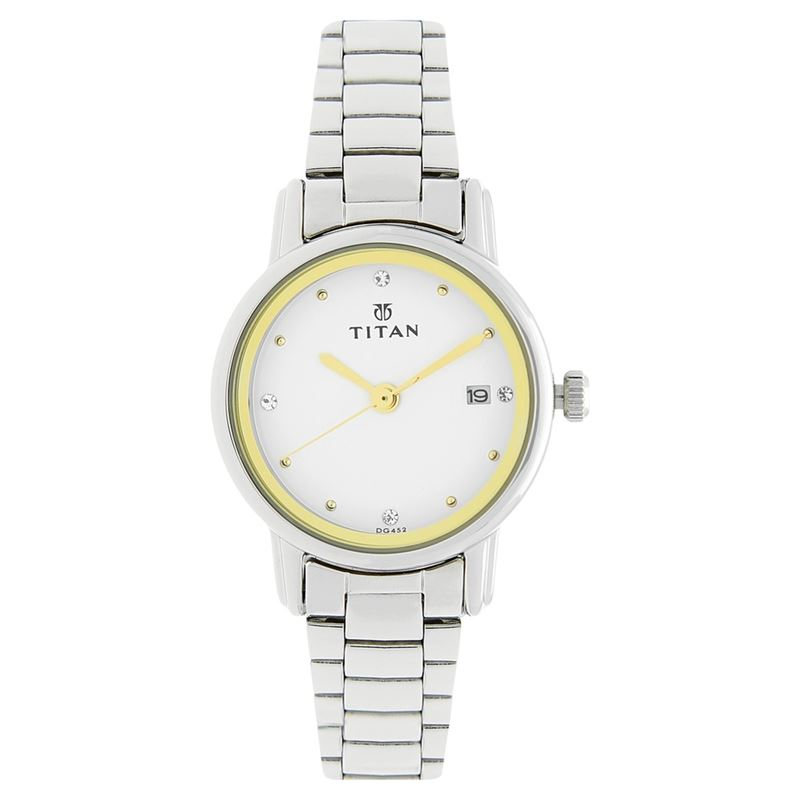 Titan Karishma White Dial Analog Watch for Women - 2572SM01