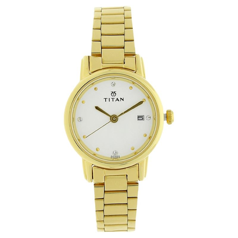 Titan Karishma White Dial Analog Watch for Women - 2572YM01