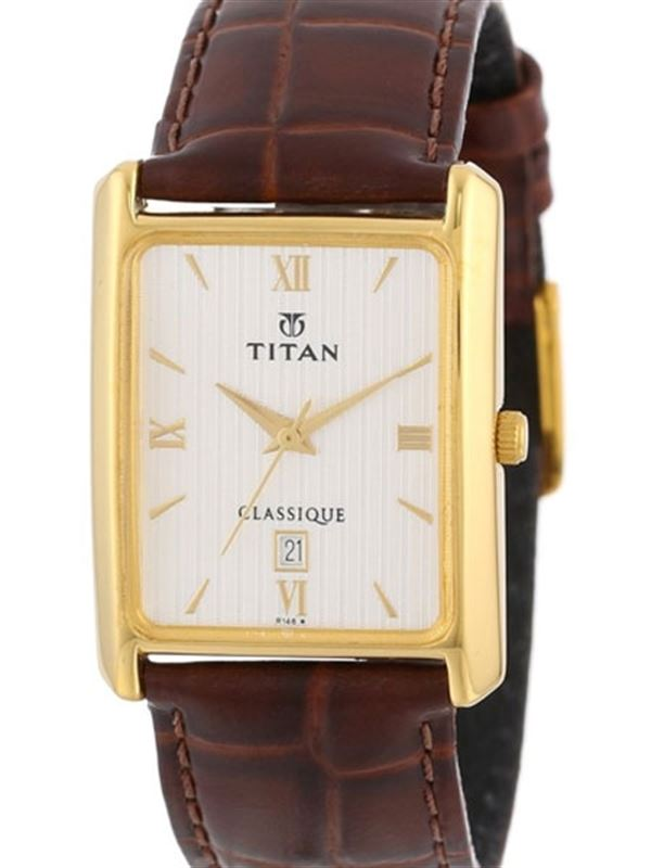 Titan Classique Analog Silver Dial Unisex Watch - 669YL01