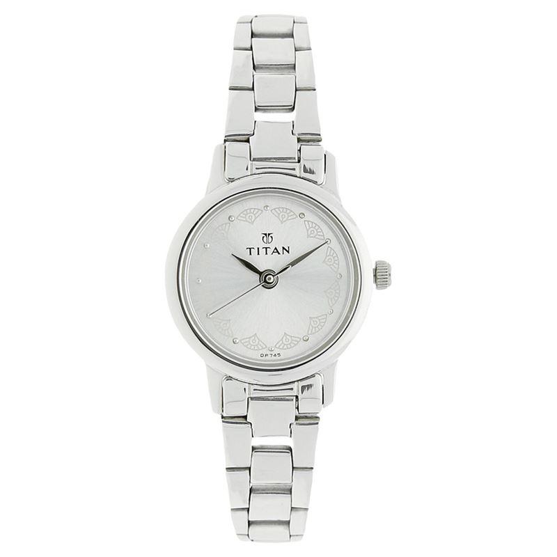 Titan Silver Dial Analog Watch for Women - 917SM03