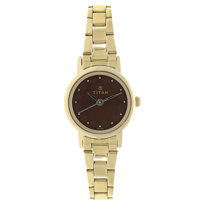Titan Brown Dial Analog Watch for Women - 917YM13