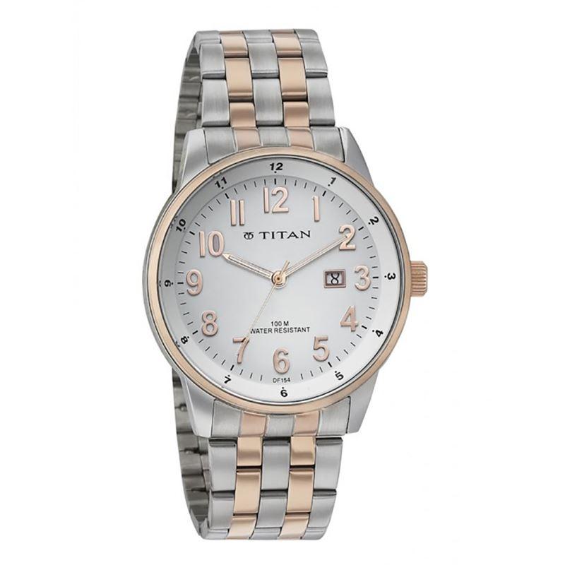 Titan Analog White Dial Men's Watch - 9441KM02
