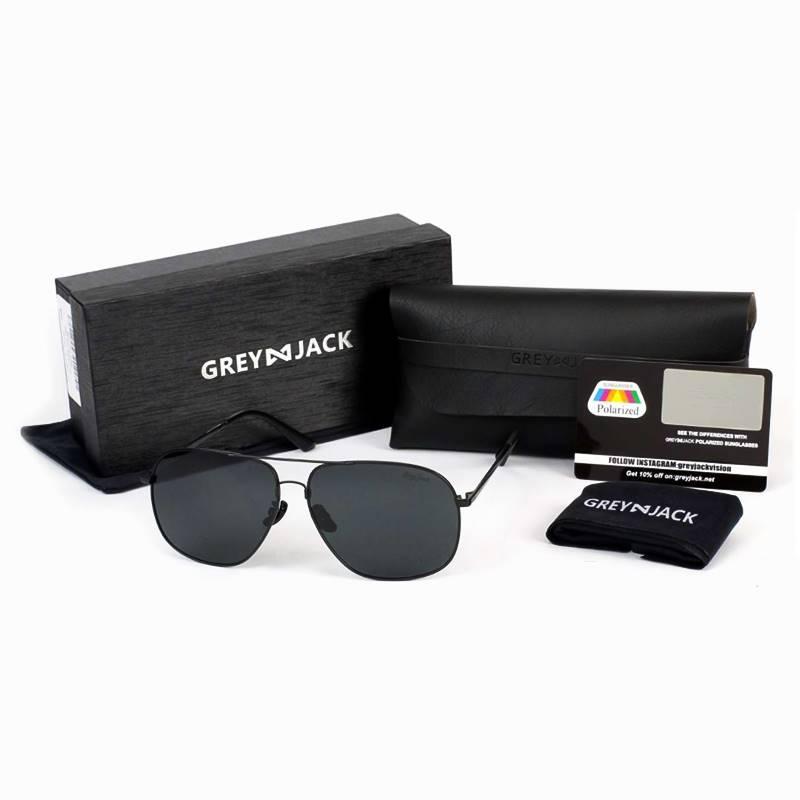 GREY JACK 8873 Black Frame With Black Lens Polarized UV Protection Sunglasses for Men