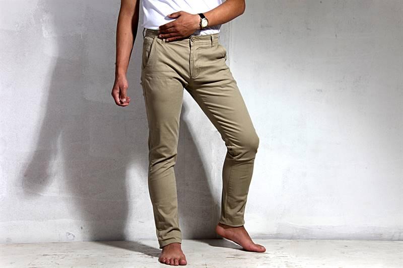 Men's Light Brown Cotton Pants - IS016