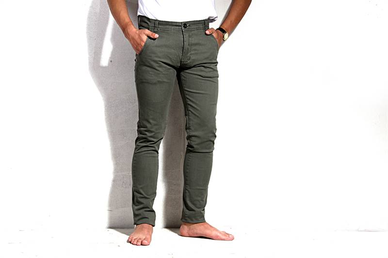 Mens Green Cotton Pants - IS018