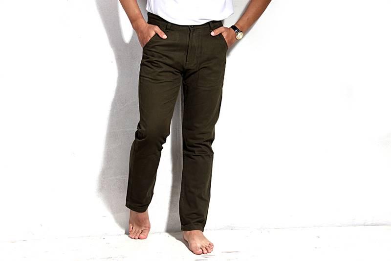 Mens Dark Heena Green Cotton Pants - IS013