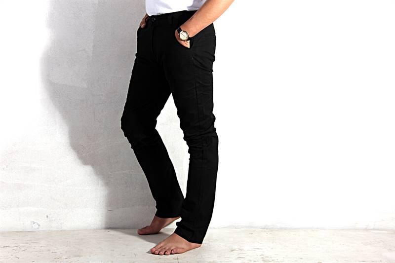 Mens Black Cotton Pants - IS012