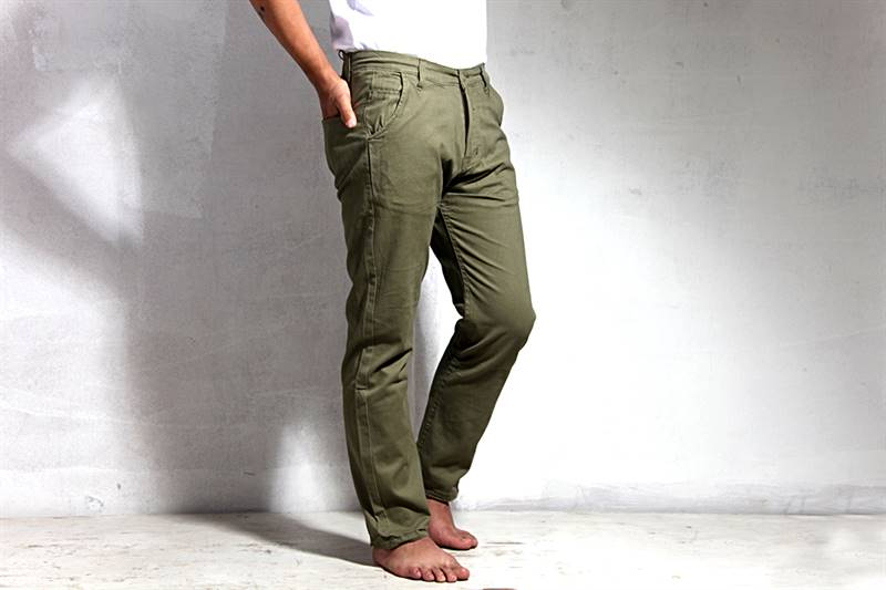 Mens Heena Green Cotton Pants - IS010