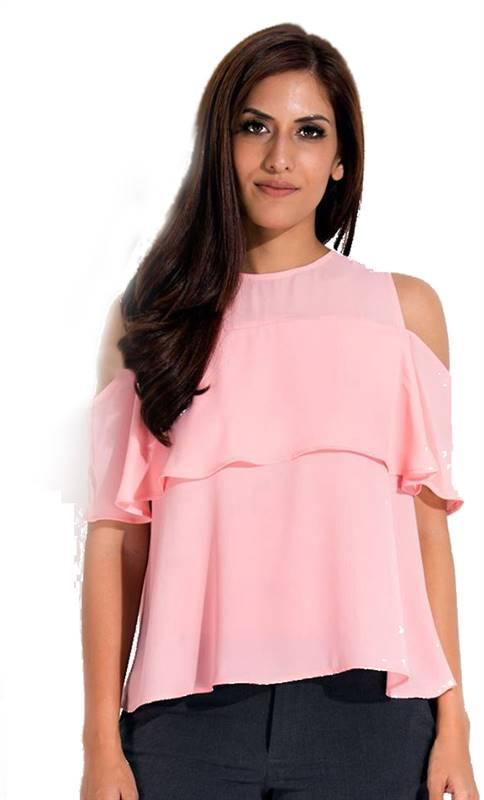 Bella Jones Off Shoulder Blouse (Pink) -SA051A