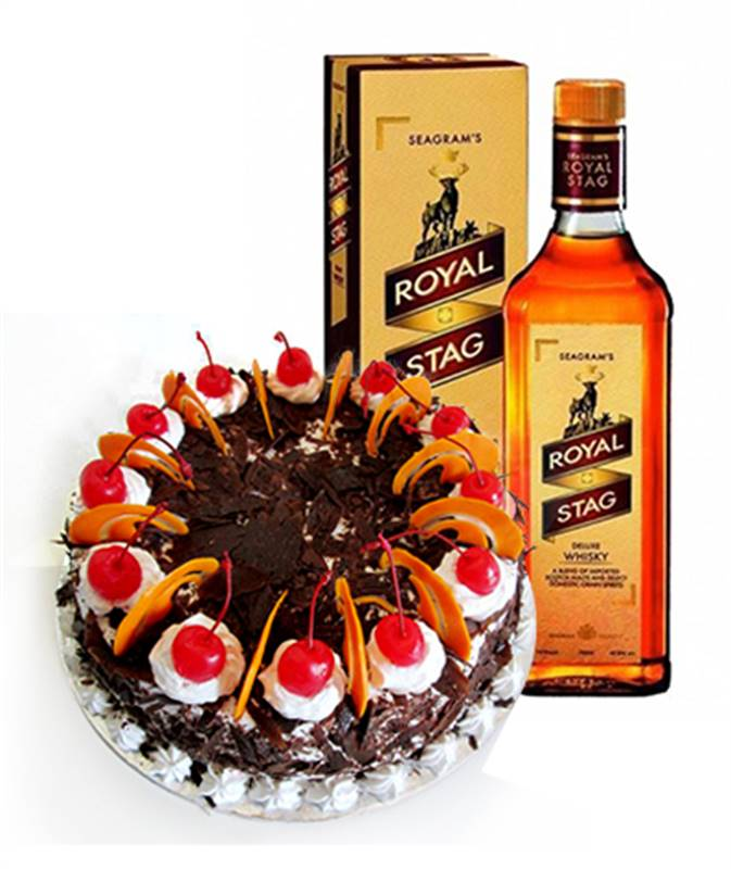 Black Forest Cake from Soaltee Crowne Plaza with Royal Stag Whisky