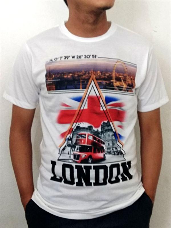 London Printed White T-shirt