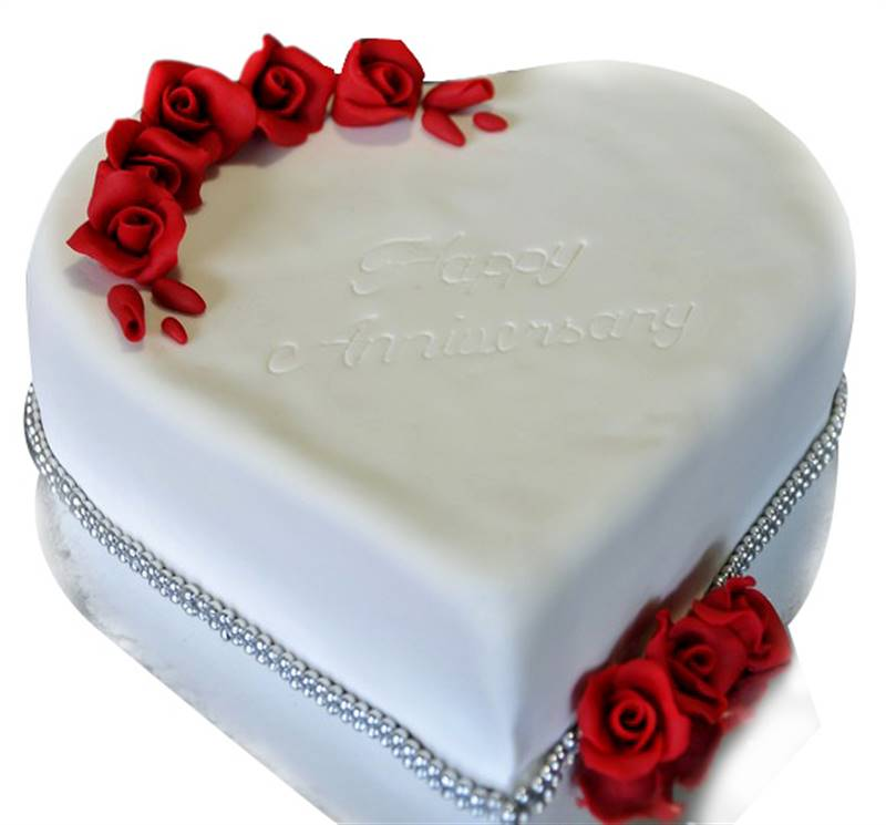 Anniversary Special Vanilla Cake (1 Kg) Covered with Fondant from Dining Park