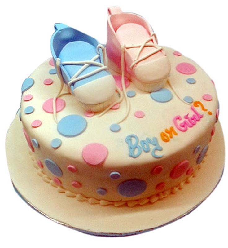 Baby Shower Special Cake in Butter Scotch (1 Kg) Covered in Fondant from Dining Park (13)