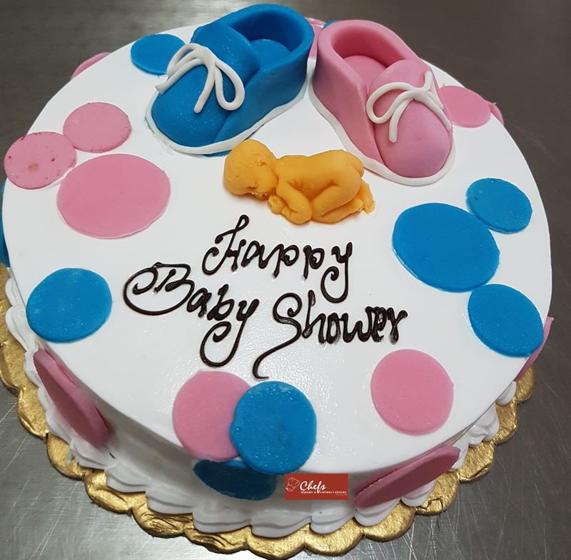 Baby Shower Chocolate Cake (1 kg) from Chefs Bakery