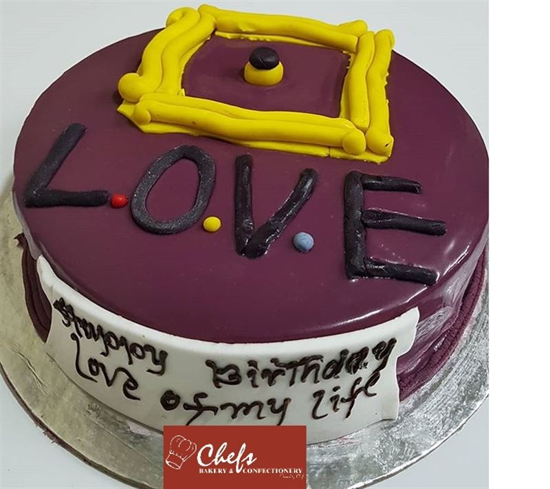 Special Chocolate for friends Cake (1 kg) from Chefs Bakery