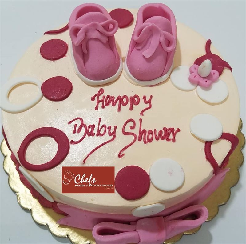 Baby Shower Black Forest Cake (1 kg) from Chefs Bakery