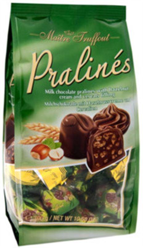 Praline - Milk Chocolate Pralines with Hazelnut Cream and Cereals Fillings (300g)
