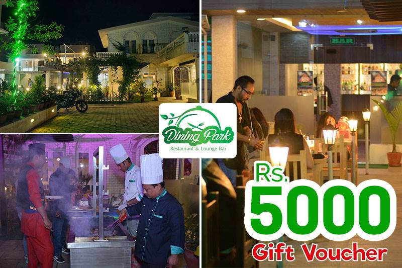 Dining Park Gift Voucher worth Rs. 5,000