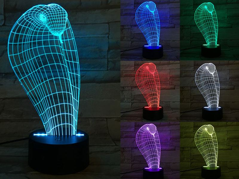 Snake Head 3D Light