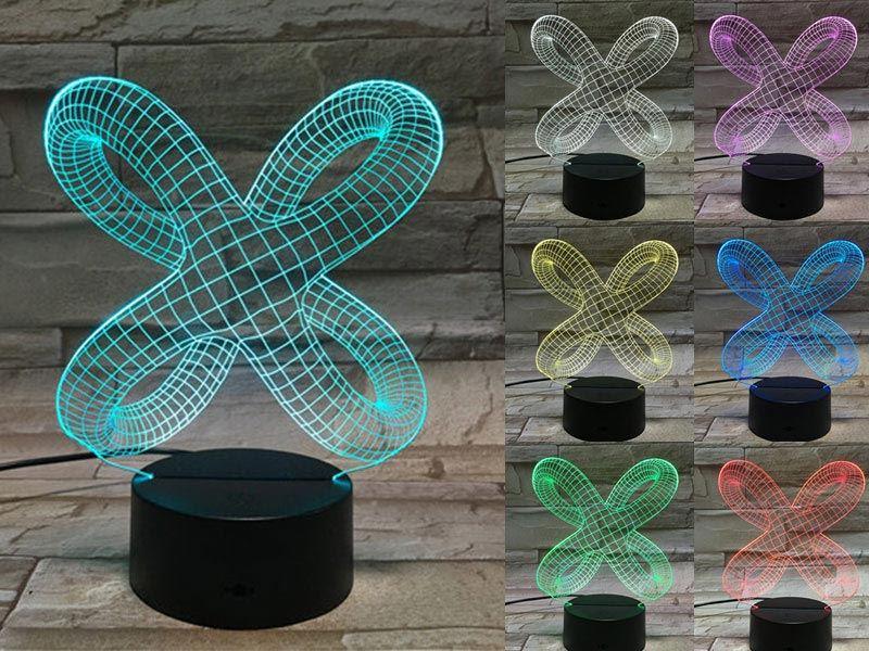 X Shaped 3D Light
