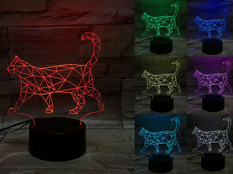 Cat 3D Light
