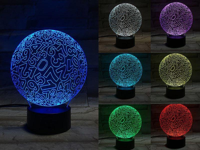 Number Ball 3D Light