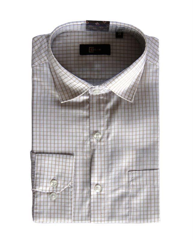 CEO Men's White Formal Shirt (M021) (Full Sleeves)