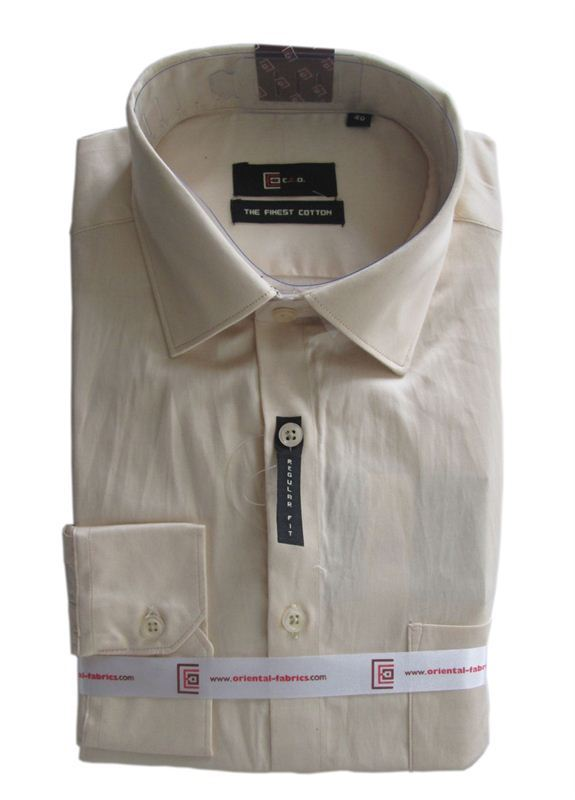 CEO Men's Cream Shirt (Full Sleeves)