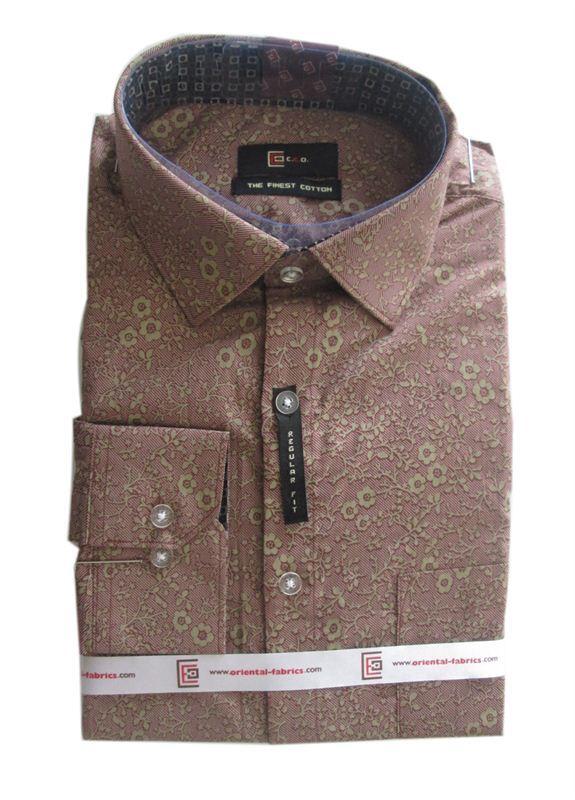 CEO Men's Maroon Floral Shirt (Full Sleeves)