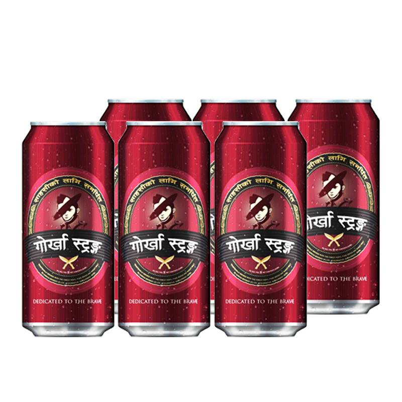 Gorkha Strong Can Beer (6x500ml)