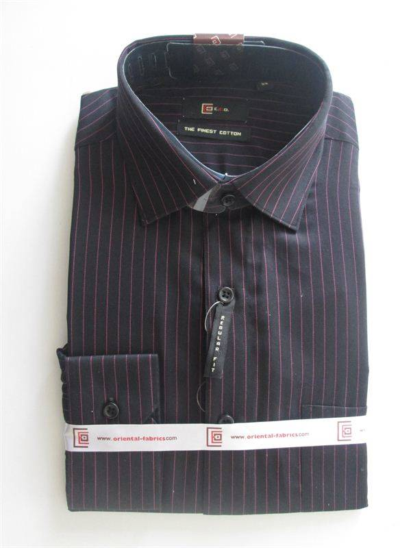 CEO Men's Dark Blue Shirt (Purple Lined) (Full Sleeves)