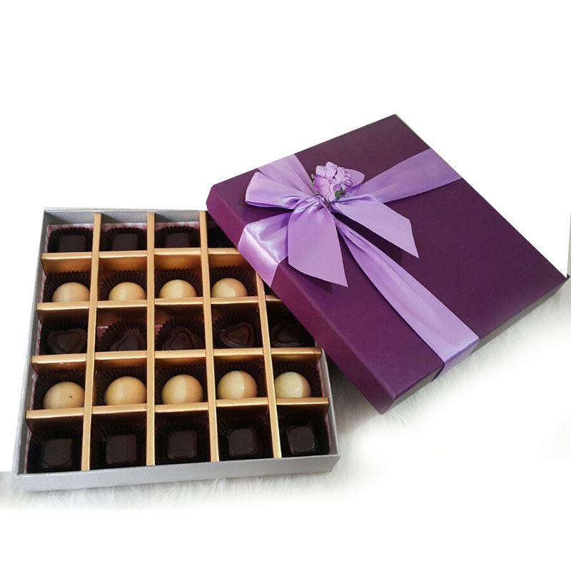 Purple Box (25 Pcs) by Chocolates with Love