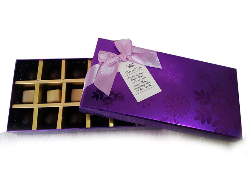 Purple Polka (18 Pcs) by Chocolates with Love